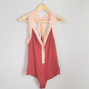 Intimately Free People red bodysuit